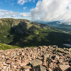 Hamlin Ridge as seen from the top of the Cathedral Trail on Mount Katahdin in Maine's Baxter State Park.