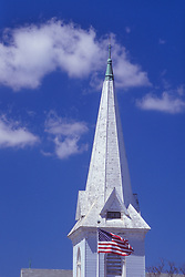 Steeple at Spire Center for Performing Arts, Plymouth, Massachusetts, US