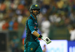 September 26, 2018 - Abu Dhabi, United Arab Emirates - Pakistan cricketer Shoaib Malik walks back following his dismissal during the Asia Cup 2018 cricket match  between Bangladesh and Pakistan at the Sheikh Zayed Stadium,Abu Dhabi, United Arab Emirates on September 26, 2018  (Credit Image: © Tharaka Basnayaka/NurPhoto/ZUMA Press)