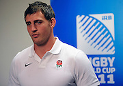 Tom Wood of England speaks to media, during an England Team announcement at Southern Cross Hotel in Dunedin, New Zealand. IRB Rugby World Cup 2011. Thursday 8 September 2011. New Zealand. Photo: Richard Hood/photosport.co.nz