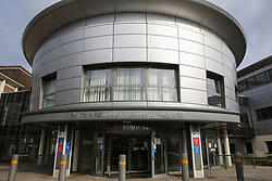 © Licensed to London News Pictures. 14/03/2020. London, UK. Exterior view of North Middlesex University Hospital in Edmonton, north London, where two patients have tested positive for COVID-19. On Friday 13 March, a newborn baby was diagnosed with coronavirus becoming the youngest patient in the UK to be tested positive. The baby's mother is treated in North Middlesex University Hospital. 21 coronavirus victims have died and 820 cases have tested positive for the virus in the UK. Coronavirus will force NHS to cancel routine operations. Photo credit: Dinendra Haria/LNP