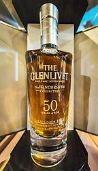THEMENBILD - ein 50 Jahre alter Whiskey im Verkaufsraum der Glenlivet Whiskey Destillerie bei Ballindalloch, Schottland, aufgenommen am 08. Juni 2015 // a 50 year old whiskey at the Glenlivet whiskey distillery salesroom near Ballindalloch, Scotland on 2015/06/08. EXPA Pictures © 2015, PhotoCredit: EXPA/ JFK