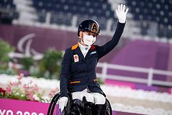 Rixt Van der Horst (NED) & Findsley - Dressage Individual Test Victory Ceremony - Equestrian Park, Setagaya City, Tokyo, Japan - 27 August 2021