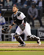 CHICAGO - MAY 16:  Welington Castillo #21 of the Chicago White Sox catches against the Toronto Blue Jays on May 16, 2019 at Guaranteed Rate Field in Chicago, Illinois.  (Photo by Ron Vesely)  Subject:  Welington Castillo