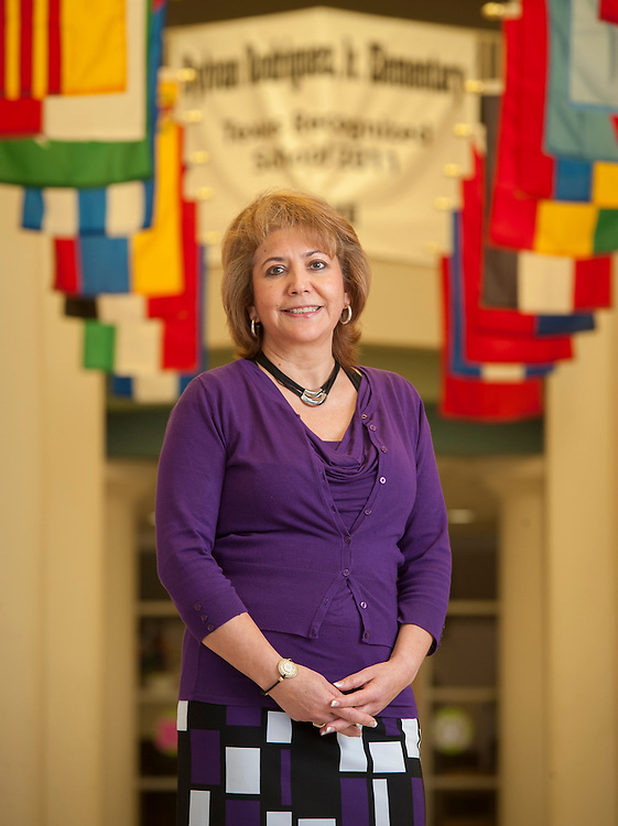 Assistant Principal Maria Espinosa at Rodriguez Elementary School, May 7, 2013.