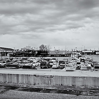 ND oilfield town.<br />Editted, Converted to B&W 2/6/15