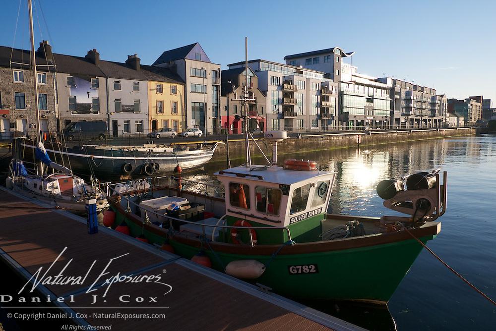 Boats in the local marina, Galway, Ireland.