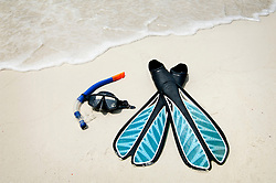 snorkeling equipment at the beach, Koh Lipe, Thailand