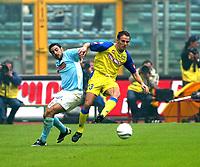 Roma 5/10/2003 Lazio Chievo.<br /><br />Salvatore Lanna (Chievo) and Stefano  Fiore (Lazio)<br />Foto Staccioli Graffiti