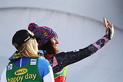 03.12.2017, Lake Louise, CAN, FIS Weltcup Ski Alpin, Lake Louise, Super G, Damen, im Bild Tina Weirather (LIE), Lara Gut (SUI) // Tina Weirather of Liechtenstein Lara Gut of Switzerland react after the ladie's Super G of FIS Ski Alpine World Cup in Lake Louise, Canada on 2017/12/03. EXPA Pictures © 2017, PhotoCredit: EXPA/ SM<br /> <br /> *****ATTENTION - OUT of GER*****