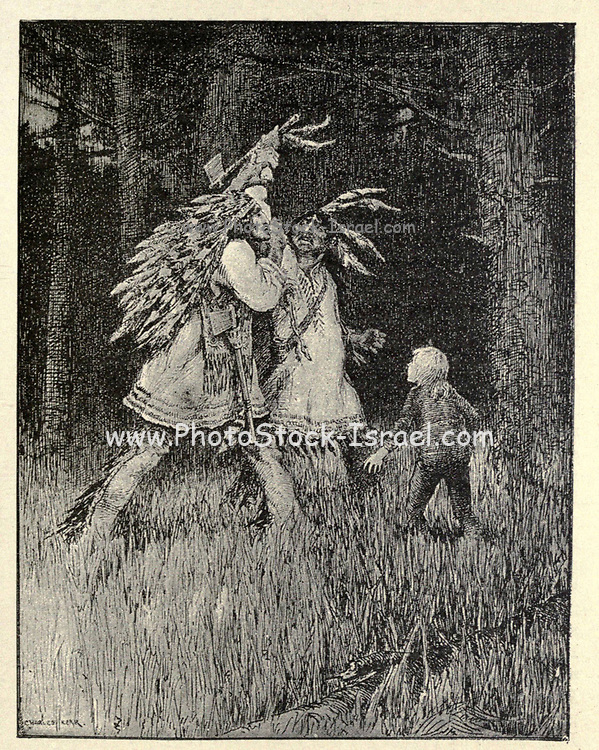 A Boy among the Red Indians From the book ' The true story book ' Edited by ANDREW LANG illustrated by L. BOGLE, LUCIEN DAVIS, H. J. FORD, C. H. M. KERR, and LANCELOT SPEED. Published by Longmans, Green, and Co. London and New York in 1893