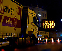 hundreds of lorries are left stranded after France closed its borders photo by Krisztian Elek