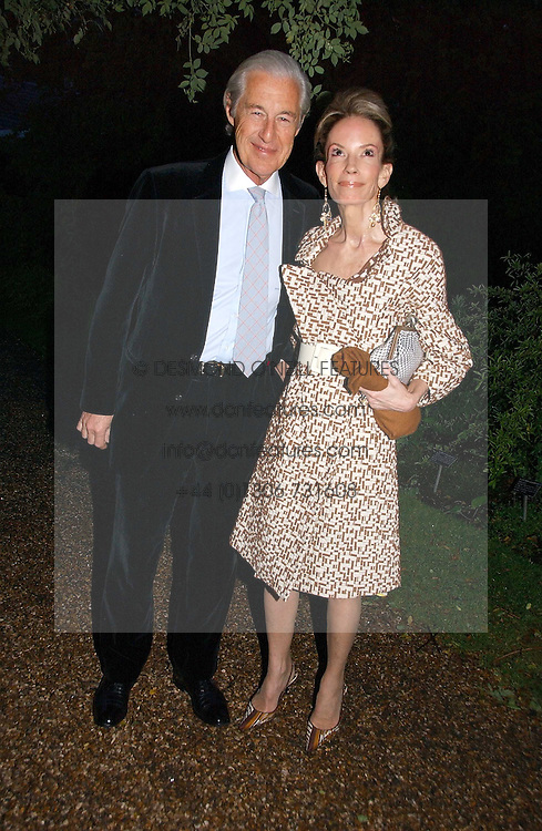 MARTIN & ANNE SUMMERS at the annual Chelsea Flower Show dinner hosted by jewellers Cartier at the Chelsea Pysic Garden, London on 22nd May 2006.<br />