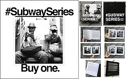 SOLD OUT <br /> Signed Copy Of #SubwaySeries-$55.00 <br /> + shipping/handling<br /> Local delivery available<br /> <br /> #SubwaySeries is a black and white experimental photo essay taken on the subways of New York City and is a technological exploration turned visually anthropological study. Publishing of #SubwaySeries was partially funded through a crowd-funding Hatchfund.org campaign. Purchase online http://www.subwayseries.info, at Saint Seneca Store, Rough Trade Records NYC, or contact Jackie directly. Update: SOLD OUT