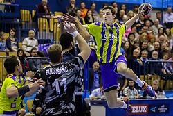 Matic Groselj #14 of RK Celje Pivovarna Lasko during handball match between RK Celje Pivovarna Lasko (SLO) and Besiktas J.K. (TUR)  in 14th Round of EHF Men's Champions League 2015/16, on March 5, 2016 in Arena Zlatorog, Celje, Slovenia. (Photo by Ziga Zupan / Sportida)