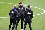 Chris Coleman, the Wales manager © looks on during Wales football team training at the Cardiff city Stadium in Cardiff , South Wales on Saturday 8th October 2016, the team are preparing for their FIFA World Cup qualifier home to Georgia tomorrow. pic by Andrew Orchard, Andrew Orchard sports photography