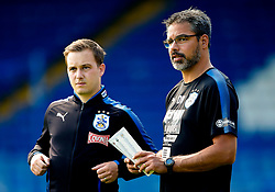 Huddersfield Town manager David Wagner talks with a member of his coaching staff on the pitch before kick off - Mandatory by-line: Matt McNulty/JMP - 16/07/2017 - FOOTBALL - Gigg Lane - Bury, England - Bury v Huddersfield Town - Pre-season friendly