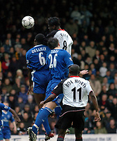 Picture: Henry Browne.<br />Date: 20/12/2003.<br />Fulham v Chelsea  FA Barclaycard Premiership.<br />Louis Saha's header in the opening moments is saved by Carlo Cudicini.