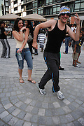 Remember The Time - Michael Jackson Tribute..People dancing, partying, and have a good time at Lee Jones's open air Sundae dance party in 2009. This weekly event is held at the the Piazza at Schmidt's in Northern Liberties in Philadelphia each Sunday.