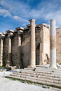 Ruins of the Library of Hadrian in Monastiraki square, Athens, Greece