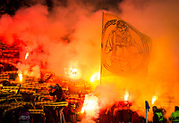 Football - 2019 / 2020 UEFA Europa League - Group G: Rangers vs. BSC Young Boys<br /> <br /> Young Boys fans before the game, at Ibrox Stadium.<br /> <br /> COLORSPORT/BRUCE WHITE