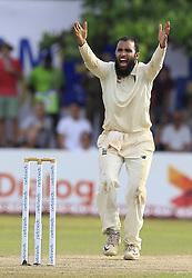 November 7, 2018 - Galle, Sri Lanka - England cricketer Adil Rashid appeals during the 2nd day's play of the first test cricket match between Sri Lanka and England at Galle International cricket stadium, Galle, Sri Lanka, on 7 Novemeber 2018. (Credit Image: © Tharaka Basnayaka/NurPhoto via ZUMA Press)