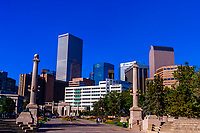 Civic Center Park with downtown Denver in background, Denver, Colorado USA.