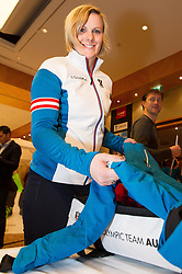28.01.2014,  Marriott, Wien, AUT, Sochi 2014, Einkleidung OeOC, im Bild Nicole Hosp (Ski Alpin, AUT) // Nicole Hosp (Ski Alpine, AUT) during the outfitting of the Austrian National Olympic Committee for Sochi 2014 at the  Marriott in Vienna, Austria on 2014/01/28. EXPA Pictures © 2014, PhotoCredit: EXPA/ JFK