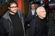 SAM GEHRY; FRANK GEHRY, The Summer Party. Hosted by the Serpentine Gallery and CCC Moscow. Serpentine Gallery Pavilion designed by Frank Gehry. Kensington Gdns. London. 9 September 2008.  *** Local Caption *** -DO NOT ARCHIVE-© Copyright Photograph by Dafydd Jones. 248 Clapham Rd. London SW9 0PZ. Tel 0207 820 0771. www.dafjones.com.