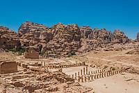 roman temple in Nabatean Petra Jordan middle east