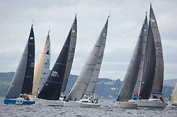 Largs Regatta Week 2017 <br /> <br /> Day 2, RC35 Class, Start<br /> <br /> Picture Marc Turner