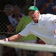 Bruce Rehn, Australia, in action in the 70 Mens Singles Final during the 2009 ITF Super-Seniors World Team and Individual Championships at Perth, Western Australia, between 2-15th November, 2009