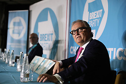John Longworth, Yorkshire's European election candidate for the Brexit Party, during a rally at Featherstone Working Man's Club, while on the European Election in Pontefract, West Yorkshire. Picture dated: Monday May 13, 2019. Photo credit should read: Isabel Infantes / EMPICS Entertainment.