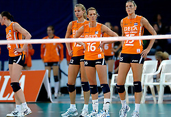 11-11-2007 VOLLEYBAL: PRE OKT: NEDERLAND - AZERBEIDZJAN: EINDHOVEN<br /> Nederland wint ook de de laatste wedstrijd. Azerbeidzjan verloor met 3-1 / Debby Stam<br /> ©2007-WWW.FOTOHOOGENDOORN.NL