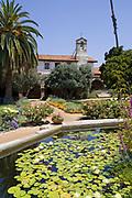 Central Courtyard, Mission San Juan Capistrano, Historic Downtown San Juan Capistrano, Orange County, California, USA