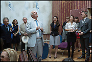 CHARLES SAUMAREZ SMITH; VICTORIA SIDDALL, ( TO HIS LEFT ) Drinks party to launch this year's Frieze Masters.Hosted by Charles Saumarez Smith and Victoria Siddall<br />  Academicians' room - The Keepers House. Royal Academy. Piccadilly. London. 3 July 2014