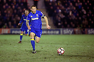 AFC Wimbledon defender Barry Fuller (2)  during the The FA Cup third round replay match between AFC Wimbledon and Sutton United at the Cherry Red Records Stadium, Kingston, England on 17 January 2017. Photo by Matthew Redman.