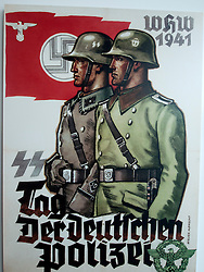 Nazi era poster on display at new Topographie des Terrors or Topography of Terror in Berlin Germany