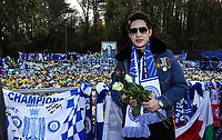 Leicester City's Fan pays there respect<br /> <br /> Photographer Rachel Holborn/CameraSport<br /> <br /> The Premier League - Saturday 10th November 2018 - Leicester City v Burnley - King Power Stadium - Leicester<br /> <br /> World Copyright © 2018 CameraSport. All rights reserved. 43 Linden Ave. Countesthorpe. Leicester. England. LE8 5PG - Tel: +44 (0) 116 277 4147 - admin@camerasport.com - www.camerasport.com