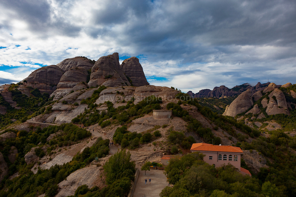Tebes area, near Ermita Sant Joan and the Sant Joan Funicular, Montserrat, mountain, Catalonia