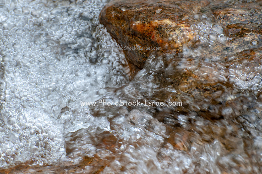Bubbling Brook. close up of Water flowing in a small stream  Photographed in Stubaital, Tyrol, Austria