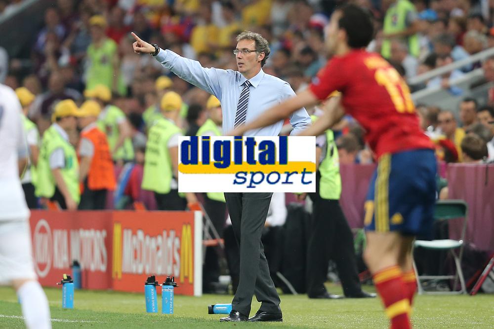FOOTBALL - UEFA EURO 2012 - DONETSK - UKRAINE  - 1/4 FINAL - SPAIN v FRANCE - 23/06/2012 - PHOTO PHILIPPE LAURENSON /  DPPI - LAURENT BLANC (FRA)