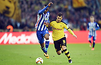 Fotball<br /> Tyskland<br /> 06.02.2016<br /> Foto: Witters/Digitalsport<br /> NORWAY ONLY<br /> <br /> v.l. Salomon Kalou (Berlin), Henrikh Mkhitaryan<br /> Berlin, 06.02.2016, Fussball Bundesliga, Hertha BSC Berlin - Borussia Dortmund