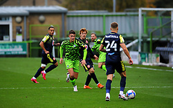 Ross Marshall of Stevenage tries to get past Jake Young of Forest Green Rovers- Mandatory by-line: Nizaam Jones/JMP - 17/10/2020 - FOOTBALL - innocent New Lawn Stadium - Nailsworth, England - Forest Green Rovers v Stevenage - Sky Bet League Two
