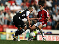 Photo: Rich Eaton.<br /> <br /> Bristol City v Swansea City. Coca Cola League 1. 07/04/2007. Ian Craney left of Swansea and Lee Johnson of Bristol