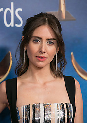 February 17, 2019 - Los Angeles, California, United States of America - Alison Brie in the Press Room of the 2019 Writers Guild Awards at the Beverly Hilton Hotel on Sunday February 17, 2019 in Beverly Hills, California. ARIANA RUIZ/PI (Credit Image: © Prensa Internacional via ZUMA Wire)