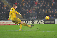 Bolton Wanderers goalkeeper Ben Amos takes goal kick  during the Sky Bet Championship match between Hull City and Bolton Wanderers at the KC Stadium, Kingston upon Hull, England on 12 December 2015. Photo by Ian Lyall.