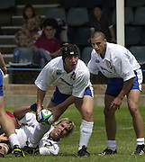 Oxford, England.<br /> <br /> IRB U21 Rugby World Cup - Iffley Road - Oxford <br /> 21.06.2003. Italy vs Japan, [Mandatory Credit: Peter SPURRIER/Intersport Images] <br /> Prop Franco Sbaragliui, acting as scrum half