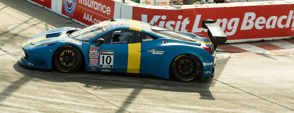 Henrik Hedman Pirelli World Challenge Ferrari 458 GT3