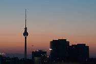 The Fernsehrturm is the highets point and city symbol
